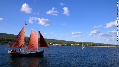 A sailboat, sailing near Grand Marais, MN.