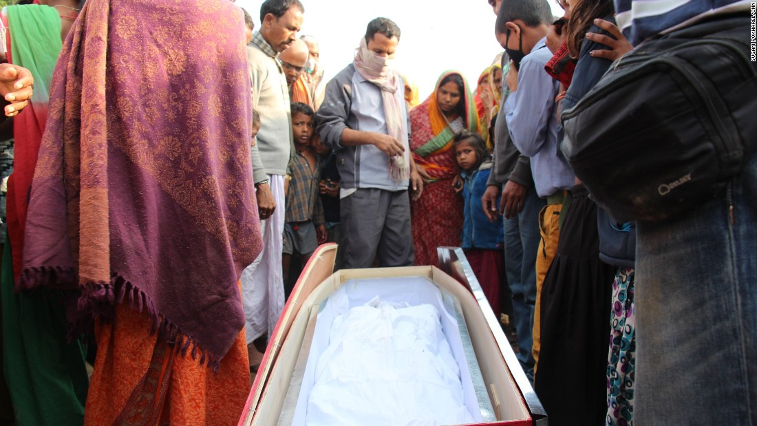 A sight all too common -- Nepali immigrants leave to work in the Middle East, then return in a casket. This one contains the body of Kishun Das, a father of five who left Nepal for Qatar eight months ago.