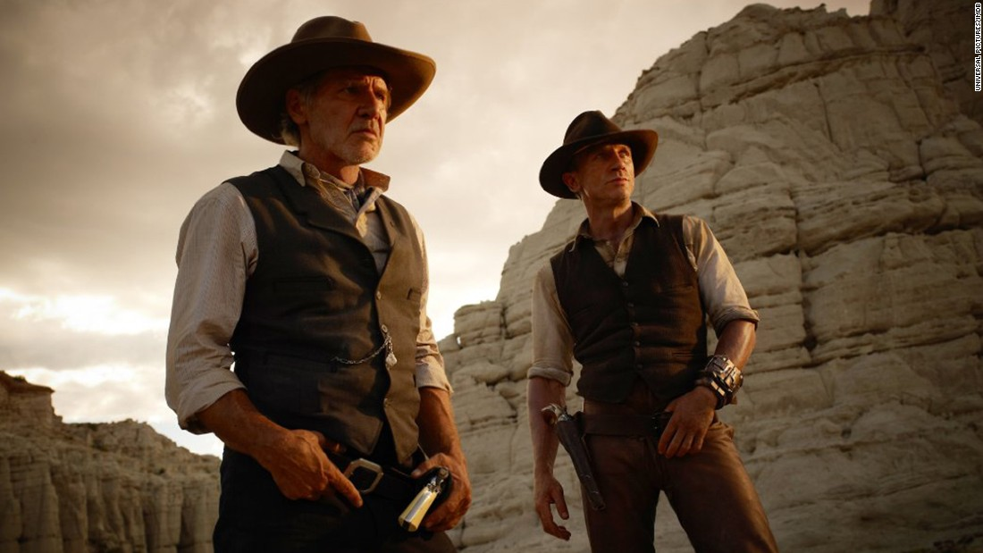 "Ford appeared with Daniel Craig in the 2011 film ""Cowboys and Aliens."""