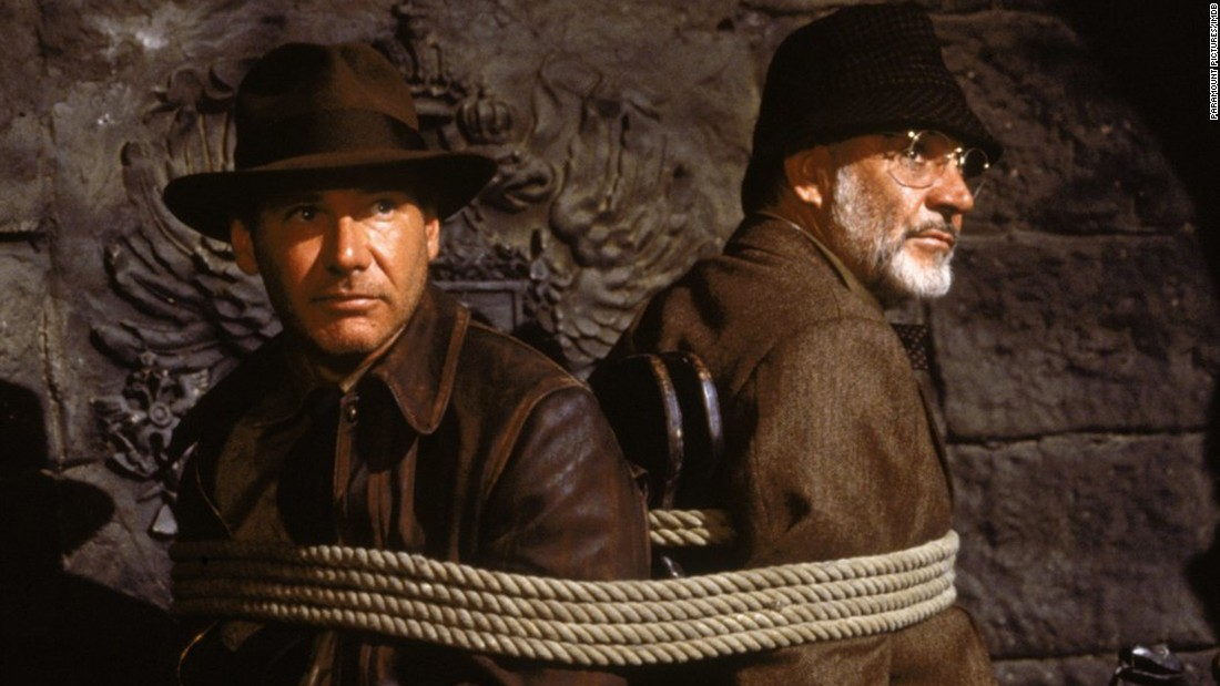 "Sean Connery played Ford's dad in 1989's ""Indiana Jones and the Last Crusade,"" the third film in the franchise."