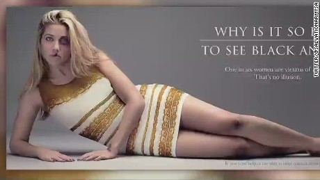 Blue and black 'viral dress' - Domestic abuse campaign_00010427