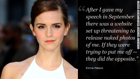 2014: Emma Watson's speech on gender equality