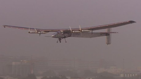 Solar-powered plane attempts first global flight