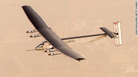 Solar plane starts second leg in trip around the world