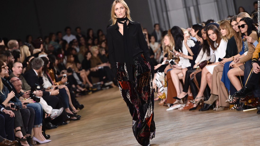 Seventies bohemian was the theme at Chloé, as reinforced by the show's Fleetwood Mac-heavy soundtrack.