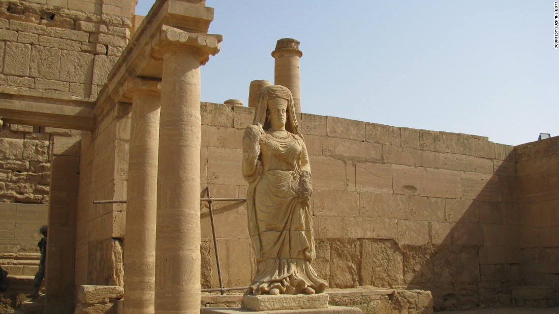 A statue of the goddess Shamiya, or Shahiro, at Hatra in 2009
