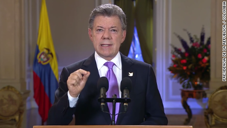 Colombian President Juan Manuel Santos, shown here during a televised address last month, has ordered that the military resume bombing raids targeting rebels in retaliation for an attack that killed 10 soldiers.