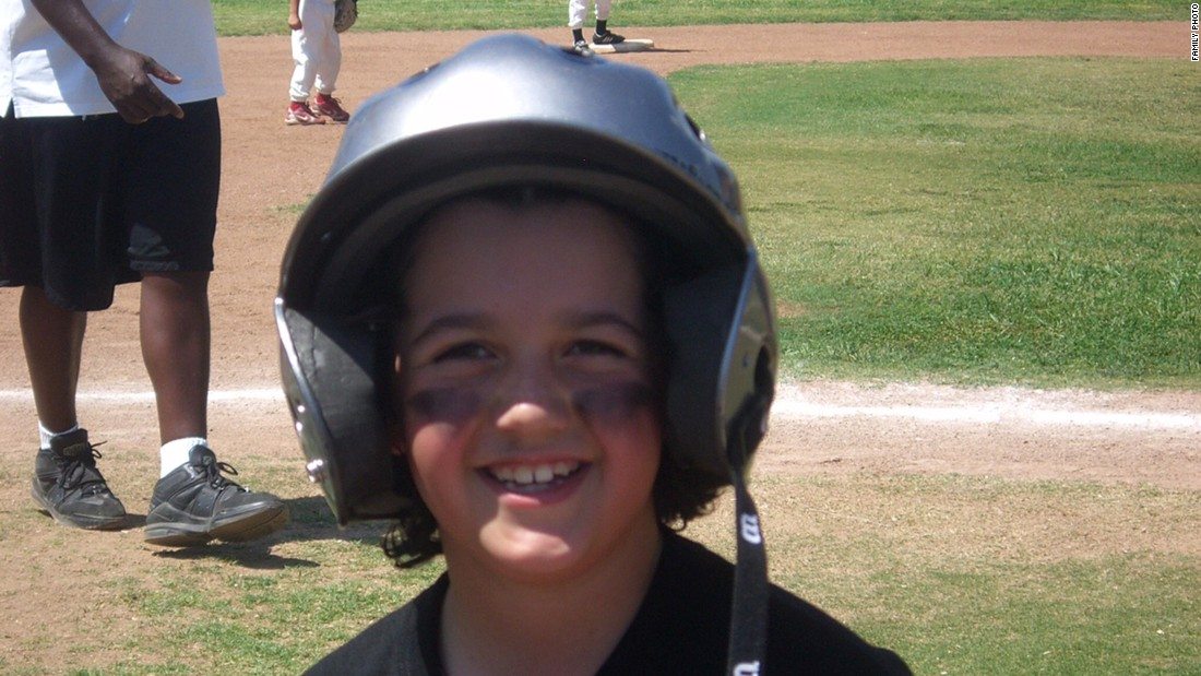 Avery plays baseball at age 8 in 2008. Avery says that his parents never tried to change him or make him act a certain way.<br />