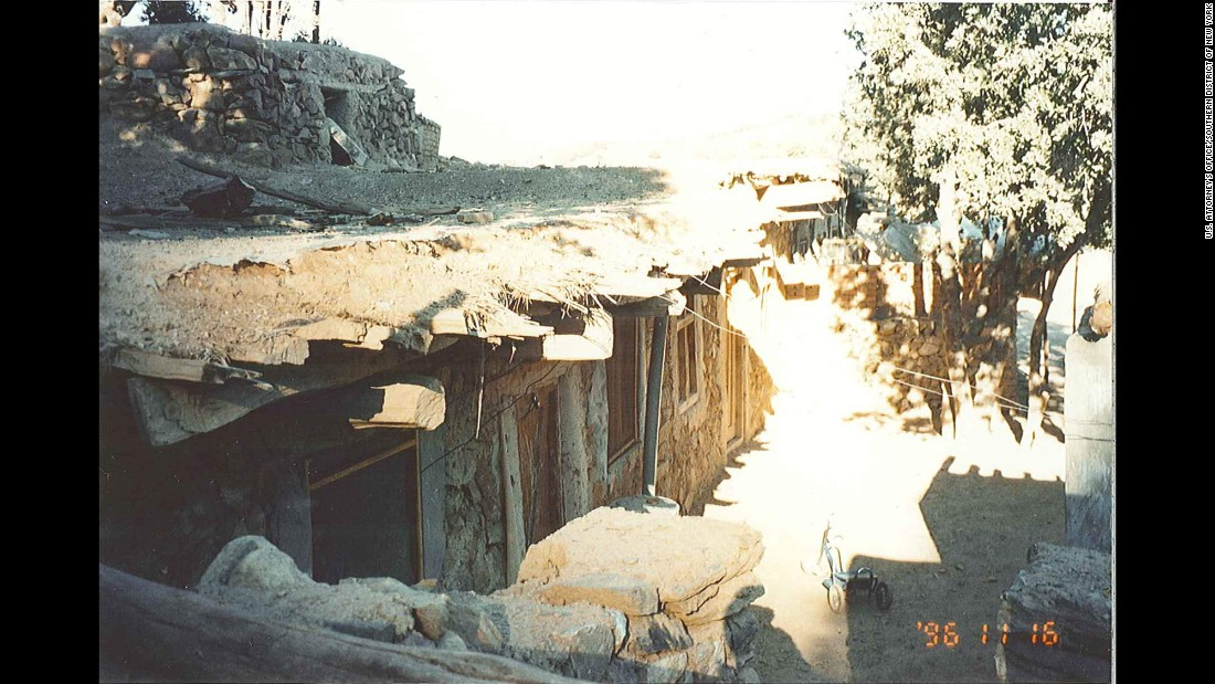 The exterior of bin Laden's hideaway was made of mud and stone.