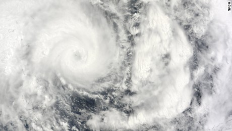 Tropical Cyclone Pam churns off the coast of Vanuatu on Wednesday, March 11.