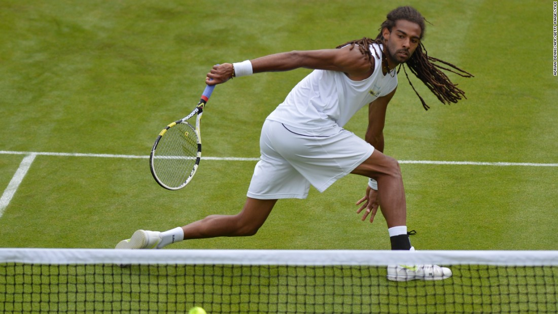 For Dustin Brown, dreadlocks are the way to go -- the German is pictured here at the 2013 Wimbledon Championships.