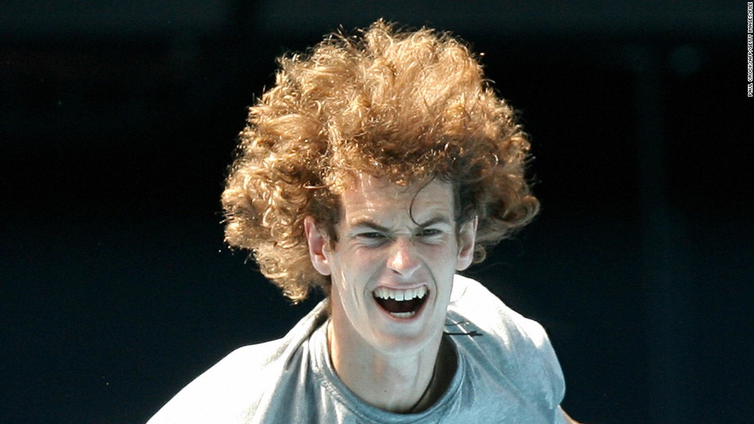 Andy Murray had quite a mane back in 2008, as evidenced by this image of him competing at the Australian Open that year.
