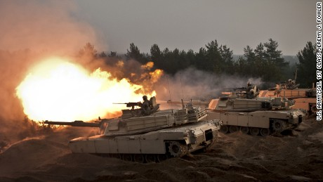 U.S. to send tanks to Europe to counter Russia