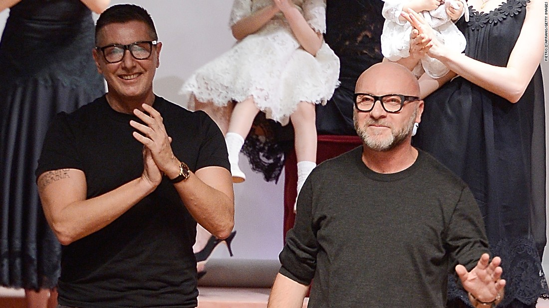 The heads of the upscale Dolce&Gabbana brand, Stefano Gabbana, left, and Domenico Dolce, are facing a boycott led by singer Elton John after the Italian designers told a magazine they disagree with in vitro fertilization.