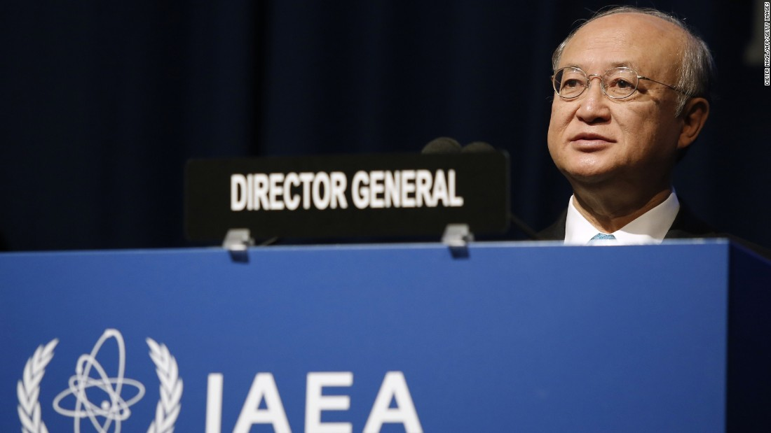 Yukiya Amano is director general of the International Atomic Energy Agency, the U.N.'s nuclear watchdog.