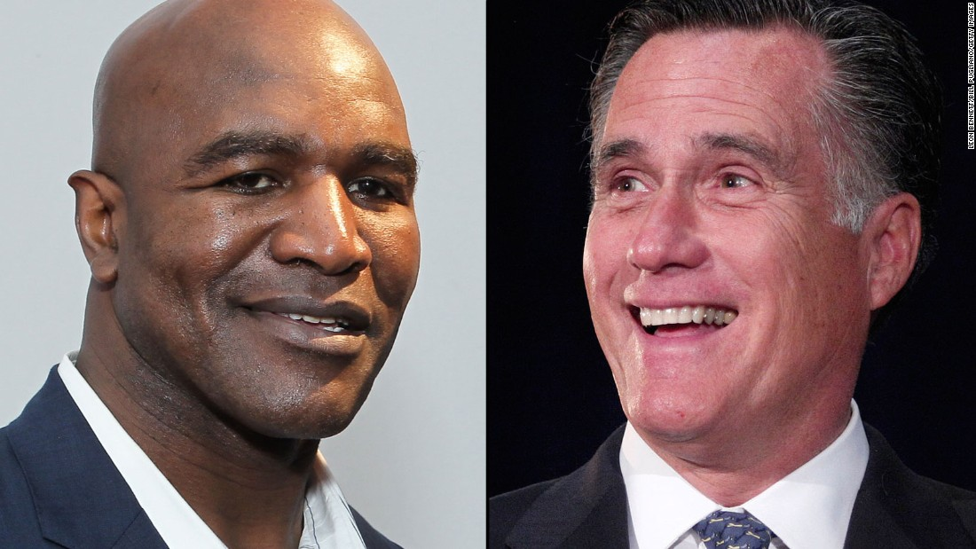 Romney's next fight: Boxing Evander Holyfield
