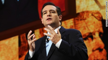 Then-Senate Republican Candidate, Texas Solicitor General Ted Cruz speaks during the Republican National Convention at the Tampa Bay Times Forum on August 28, 2012 in Tampa, Florida.
