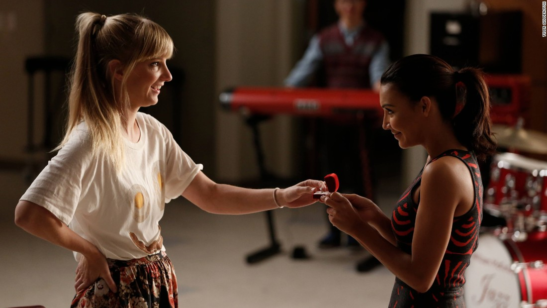 "Last season, Brittany and Santana got engaged. Morris appeared in 2015's ""Most Likely to Die."""