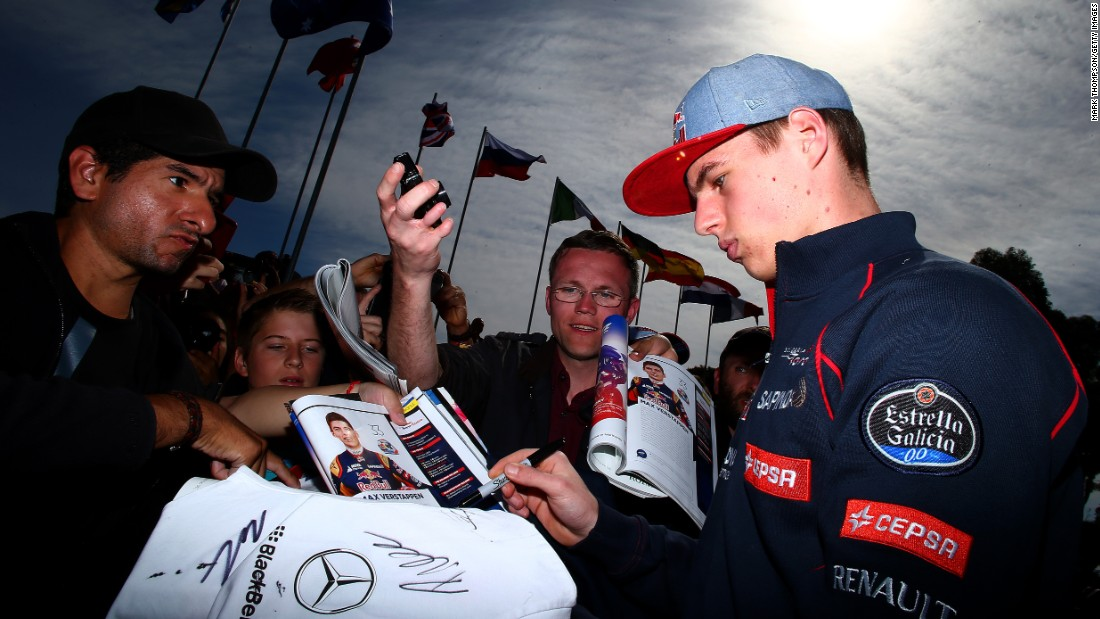 Verstappen was a young man in demand in Melbourne after making history at the age of 17 years and 166 days.