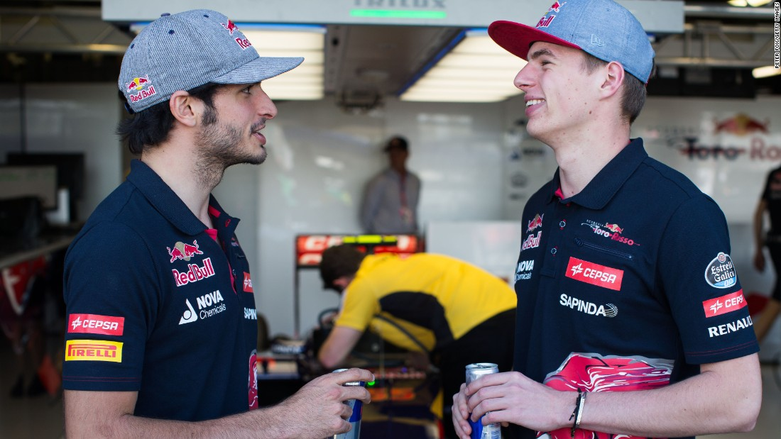 Verstappen and his Toro Rosso teammate, fellow rookie Carlos Sainz Jr. of Spain, both have famous fathers. Sainz Jr. is the son of two-time world rally champion Carlos Sainz.