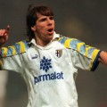 Gianfranco Zola in action for one-proud Parma in November, 1995.