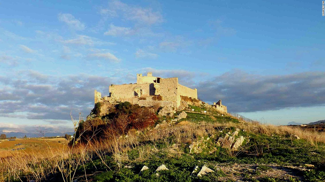 An ancient fortress featuring a necropolis, Calatubo was once part of a network of lookout towers built in times of pirate raids. <br />Badly damaged by an earthquake in 1986, its dilapidated appearance casts a spooky shadow on travelers using the nearby highway. <br />Alcamo, Trapani<br />