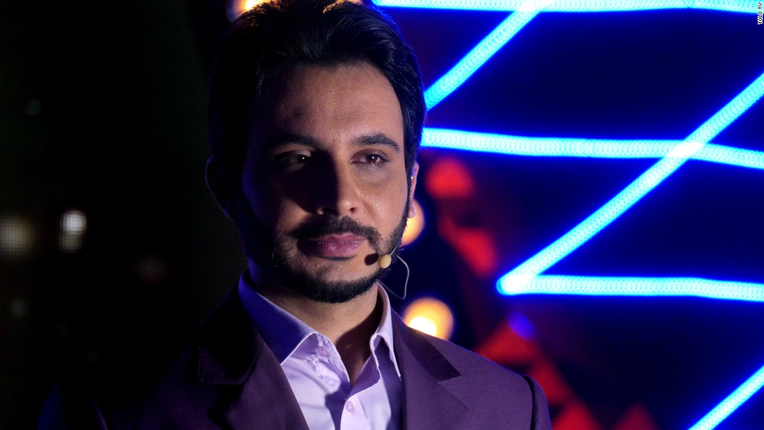 """Afghan Star"" is hosted by Mustafa Azizyar."