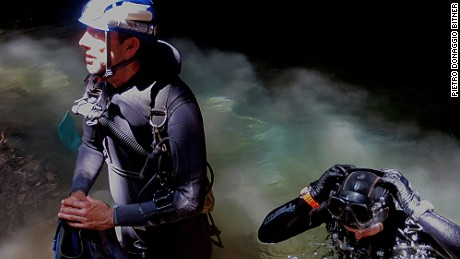 Cave divers had to carry a minimum of two tanks a piece.