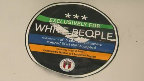 Racist stickers put on businesses