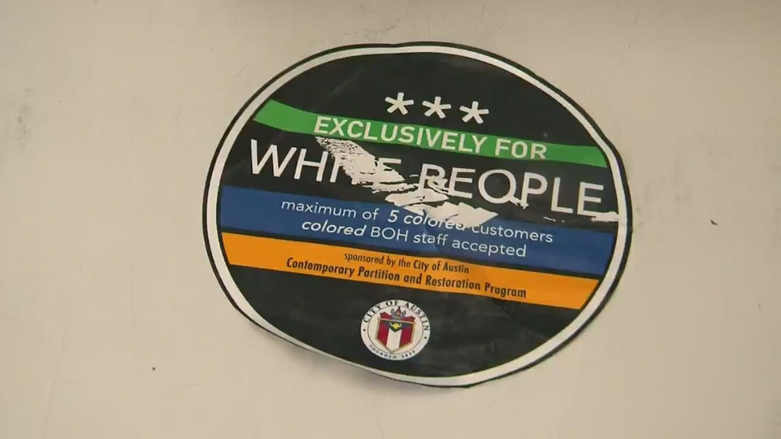 Austin mayor outraged by 'white people only' stickers posted on businesses
