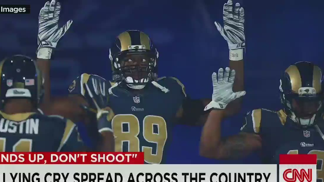 How 'hands up, don't shoot' spread