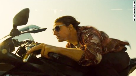 "Tom Cruise appears in a trailer for ""Mission: Impossible Rogue Nation."""