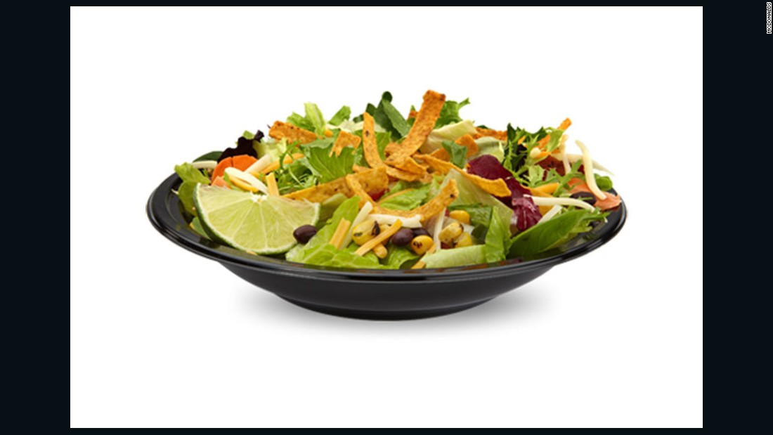 "I'd get the Southwest Salad without chicken. I prefer eating more vegetarian foods and that really is difficult at McDonald's. Trying to eat veggies at each meal is important to me --I like that the salad is mostly veggies with some fun from tortilla strips, cheese and dressing.<br /><br />It weighs in under 300 calories and has 9 grams of protein and 6 grams of fiber. Plus, the sodium isn't off the charts like many other fast food options."" <br /><br />-- <a href=""https://dawnjacksonblatner.com/"" target=""_blank"">Dawn Jackson Blatner</a>, RDN, CSSD, LDN"