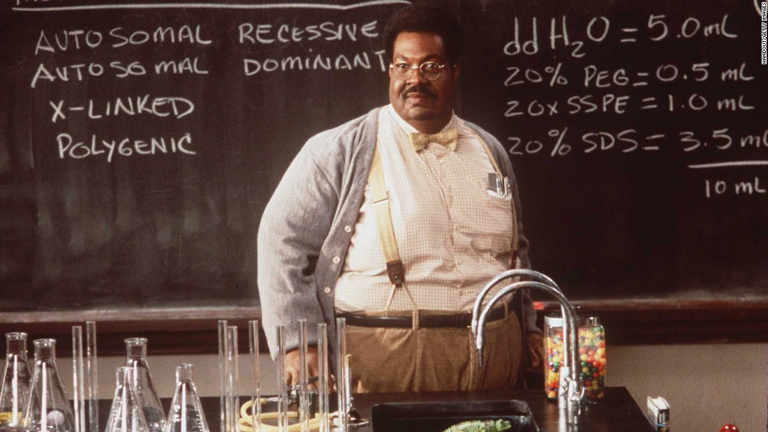 "In the 1996 reboot of ""The Nutty Professor,"" Eddie Murphy's Professor Sherman Klump develops a potion for quick weight loss. But at what cost?"
