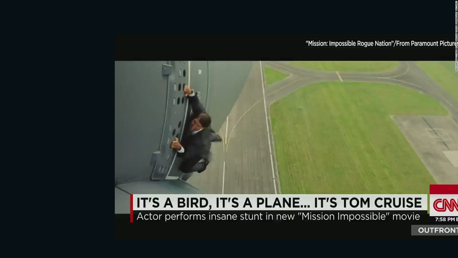 How Tom Cruise Dangled From Moving Plane CNN - Behind the scenes of the insane plane stunt in mission impossible rogue nation