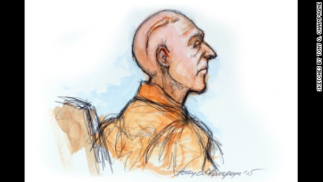 A sketch shows Robert Durst as he appeared in court Monday.
