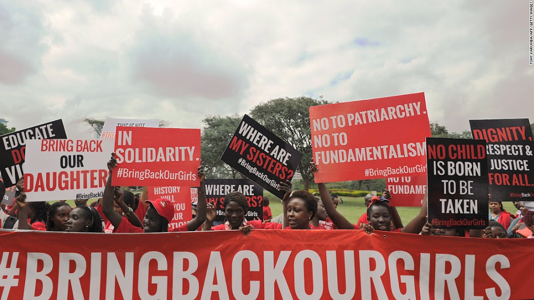 In April Islamic fundamentalist group Boko Haram kidnaps more than 200 schoolgirls in Chibok, Borno state. International outcry ensues across social media, but nearly over a year later the girls have yet to be released.