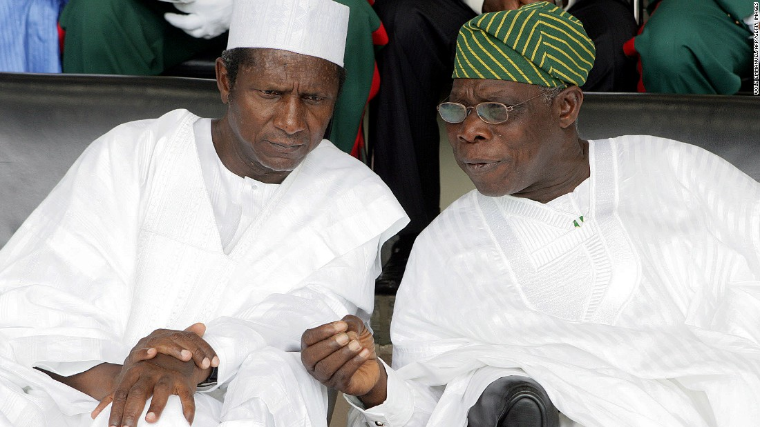 Umaru Yar'Adua succeeds Olusegun Obasanjo in the presidential election -- it is the first time power is transferred between two civilians in the history of the Republic of Nigeria.