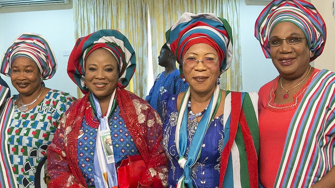 Ladies dress up for an APC rally in Lagos on January 30.