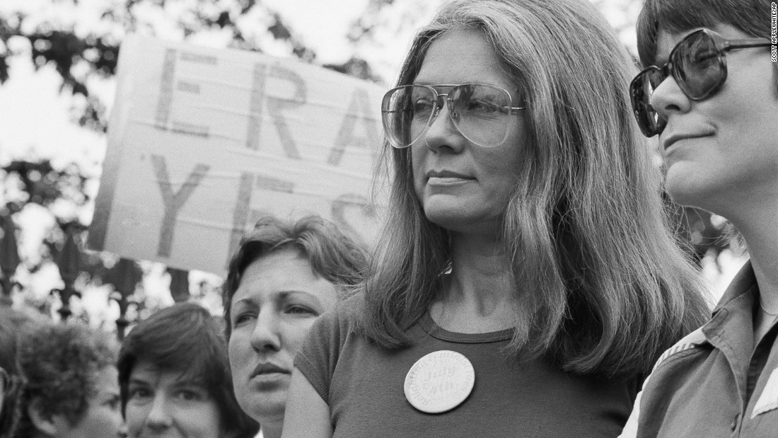 "Gloria Steinem, arguably the most recognized name and face in feminist activism, was among the key forces behind the ERA effort in the '70s and '80s. Although it wasn't ratified, most men and women were pro-ERA, Steinem says. She recently took a break from writing her latest book to join a gathering in support of the new ERA Coalition and celebrate the release of ""Equal Means Equal,"" written by coalition founder and director Jessica Neuwirth."