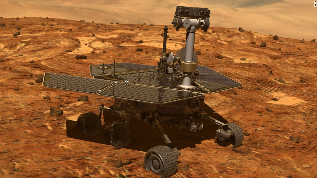 The Mars Opportunity rover (computer visualization).