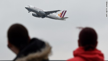 TOPSHOTS An Airbus A 313 of the German airline Germanwings' takes off at the Duesseldorf airport on March 25, 2015 in Duesseldorf, western Germany. Budget airline Germanwings said there were at least 72 Germans on its plane that crashed in the French Alps, killing all 150 people aboard. AFP PHOTO / PATRIK STOLLARZPATRIK STOLLARZ/AFP/Getty Images