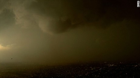 A weak tornado touched down in Moore, Oklahoma Wednesday evening.
