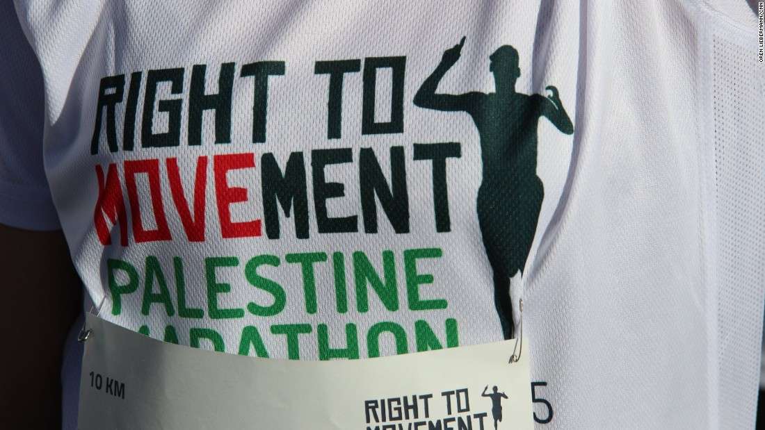 The marathon was organized by Right to Movement and the Palestine Olympic Committee.