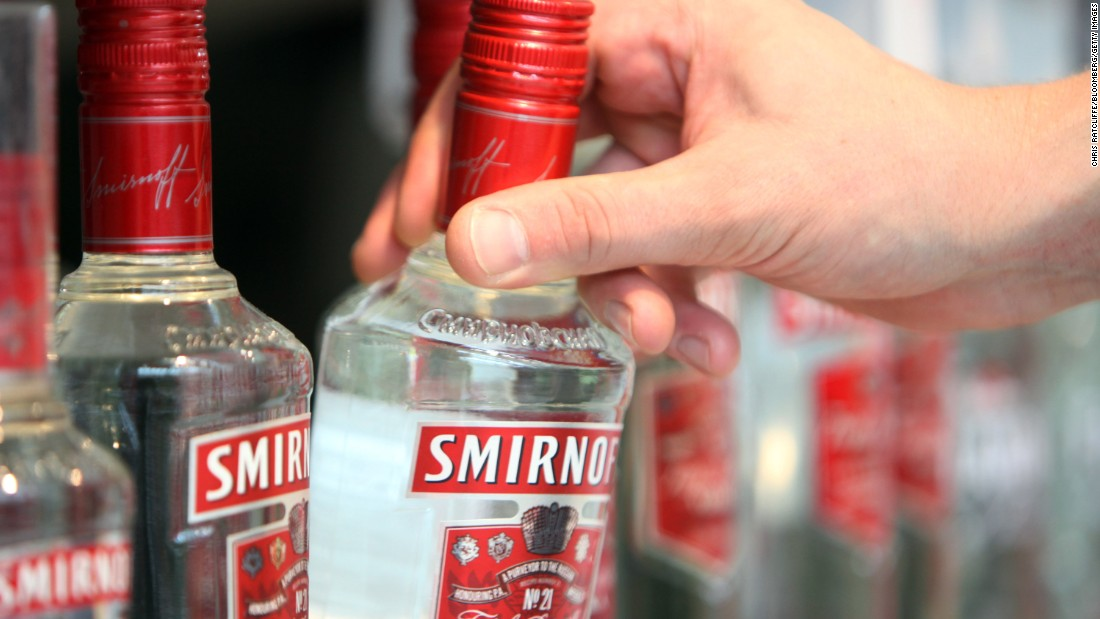 <strong>1. Smirnoff vodka. </strong>US retail sales in 2014: $315 million.
