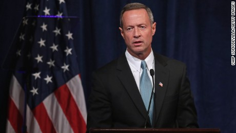 Then-Maryland Gov. Martin O'Malley addresses a conference commemorating the 10th anniversary of the Center for American Progress in the Astor Ballroom of the St. Regis Hotel October 24, 2013 in Washington, D.C.