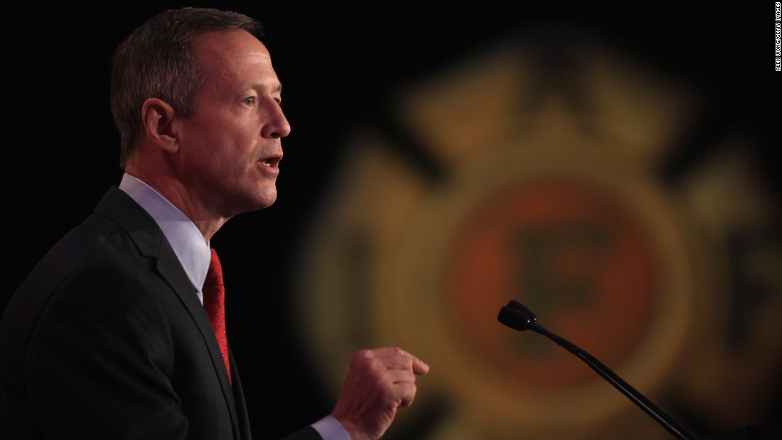 O'Malley speaks during the 2015 Alfred K. Whitehead Legislative Conference and Presidential Forum on March 10.