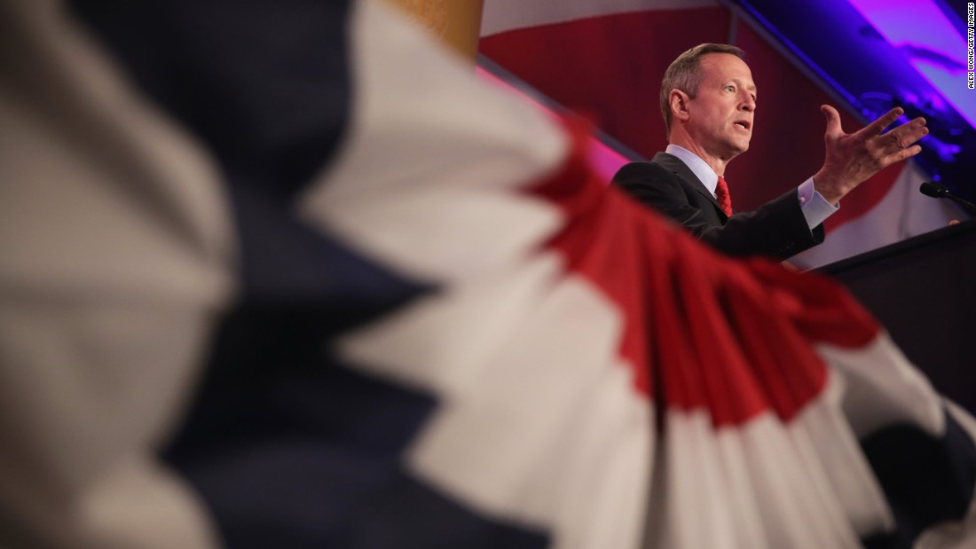 "O'Malley has not been shy about potentially running in 2016, saying about potential competitors Jeb Bush and Hillary Clinton that the presidency is not a ""crown"" to be passed through families."