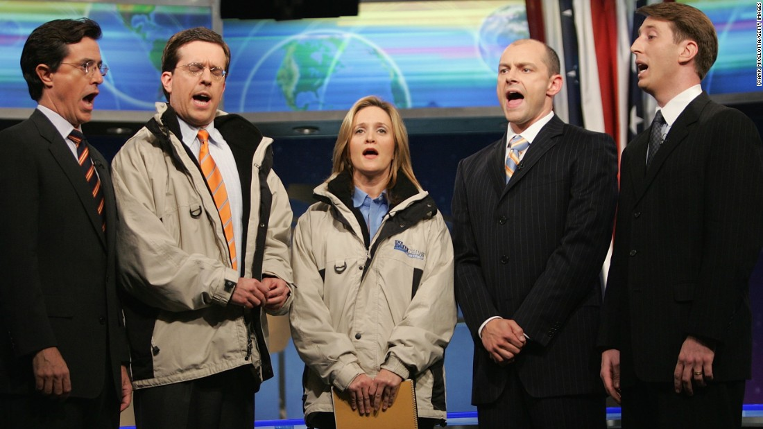 "Ed Helms, second from left, parlayed his four years on ""The Daily Show"" into memorable roles on NBC's ""The Office"" and in ""The Hangover"" movies."