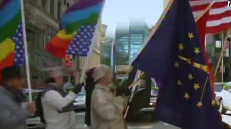 Protests underway over Indiana's 'religious freedom' law